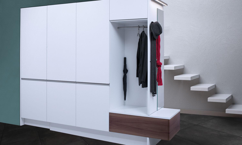 Garderobe Einbauschrank einbauschrank kombiniert mit garderobe lang küchen ag